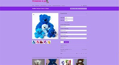 Flowers R Us Product Page